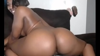 Sexy black girl I met on Ebonna.com shows off her perfect ass