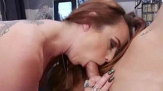 Dominant TS doctor doggystyles busty patient
